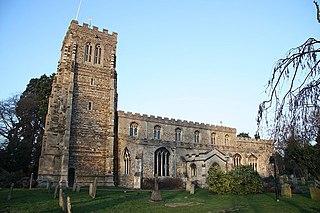 Eaton Socon village in the United Kingdom