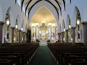 St. Patrick Cathedral (Fort Worth, Texas) - Image: St. Patrick Cathedral interior Fort Worth, Texas 01