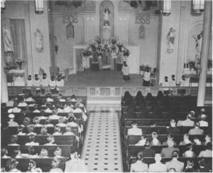 St. Stanislaus Parish, Nashua - Image: St. Stanislaus, Nashua, Jubilee Mass 1958