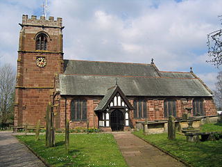 Tattenhall Village in Cheshire, England