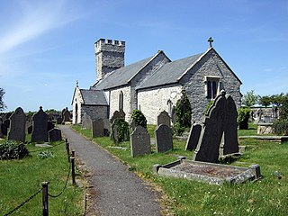 Pennard village on the Gower Peninsula, Wales