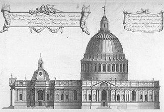 Christopher Wren - Wren's Greek Cross design for St Paul's.