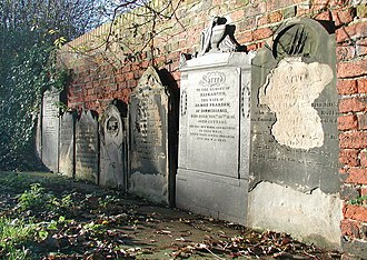 Drypool - Gravestones, site of the former St Peter's church and graveyard