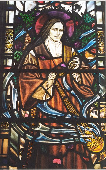 St Therese of Lisieux - stained glass window d...