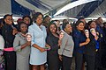 Staffers from U.S. Embassy Abuja Carry Signs Bearing the Face of Secretary Kerry (28582821544).jpg