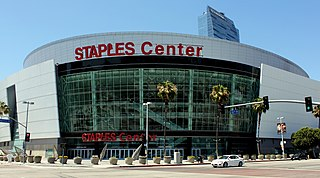 Staples Center multi-purpose arena in Los Angeles, CA