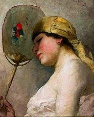 Woman with a Fan.