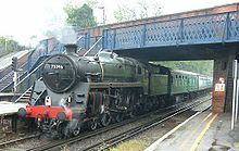 Steam locomotive - 73096 - at Virginia Water station - 280404.jpg