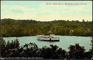 Steamship on Indian River Muskoka Lakes.jpg