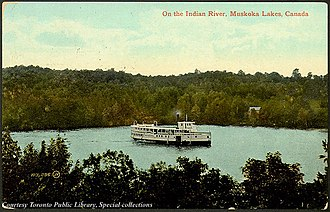 District Municipality of Muskoka - Steamship on Indian River Muskoka Lakes