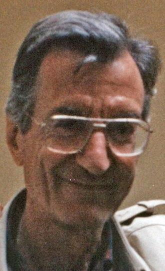 Carlo Lizzani - Lizzani (left) on the set of Celluloide (Rome, 1996)