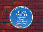 Stevie Smith - English Heritage Blue Plaque.JPG