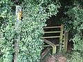 Stile entering wood, track of disused railway - geograph.org.uk - 498865.jpg