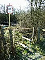 Stile on a footpath over the Swindon to Gloucester Railway, Purton - geograph.org.uk - 1205027.jpg