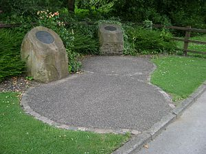 Stockport air disaster - The two memorials at the crash site in Stockport