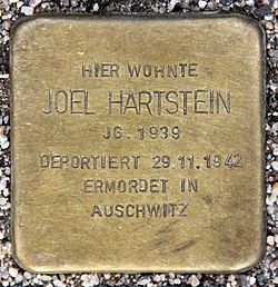 Photo of Joel Hartstein brass plaque