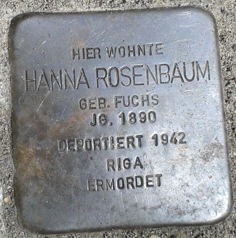 Stolperstein Datteln Mittelstraße 18 Hanna Rosenbaum
