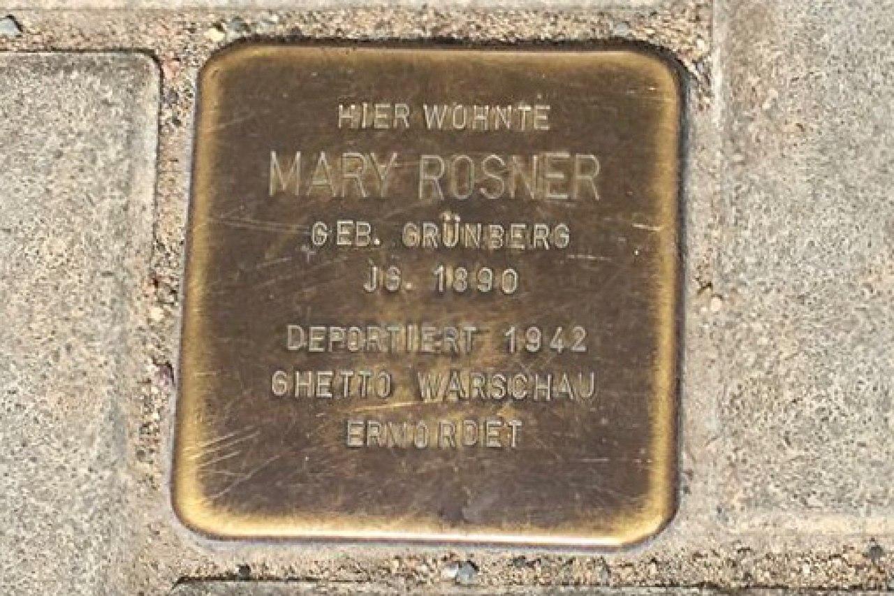 Stolperstein Finckestraße 7 für Mary Rosner