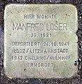 Stolperstein Hektorstr 4 (Halsee) Manfred Loser.jpg