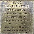 Stolperstein Léa Rubinstein 31 rue Cuvier Fontenay Bois 2.jpg