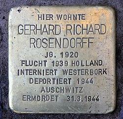 Stolperstein roscherstr 5 (charl) gerhard richard rosendorff