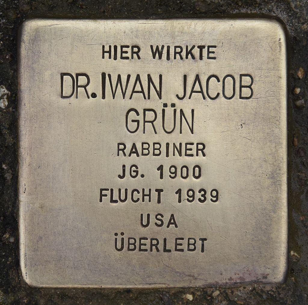 Stolperstein für Dr. Iwan Jacob Grün.JPG