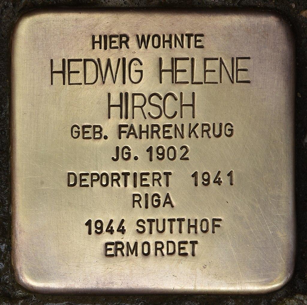 Stolperstein für Hedwig Helene Hirsch (Kiel).jpg