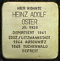 Stolpersteine Köln, Heinz Adolf Oster (Blumenthalstraße 15).jpg