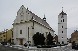 Strážnice (Hodonín District) - Image: Strážnice kostel sv. Martina