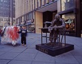 Street statue of a garment worker on Seventh Avenue in Manhattan in the heart of New York City's Garment District LCCN2011632581.tif