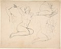 Studies of a Sitting Woman; verso- Studies of Men MET DP803684.jpg