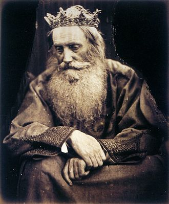 David - Study of King David, by Julia Margaret Cameron. Depicts Sir Henry Taylor, 1866