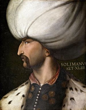 Siege of Vienna - Portrait of Suleiman the Magnificent by Cristofano dell'Altissimo