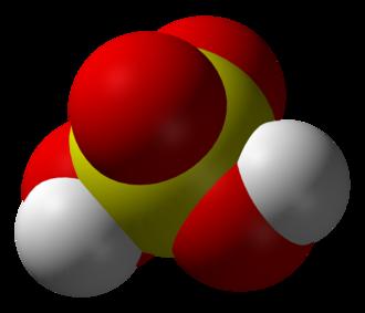 Oxyanion - Sulfuric acid molecule