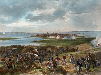 Siege of Charleston - Siege of Charleston 1780 by  Alonzo Chappel