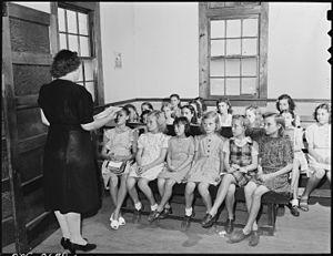 Sunday school - Sunday school at a Baptist church in Kentucky, US, 1946