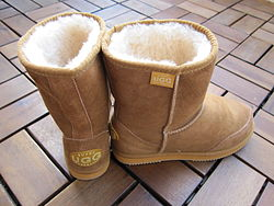A pair of Ugg boots made in Australia where the name is generic.