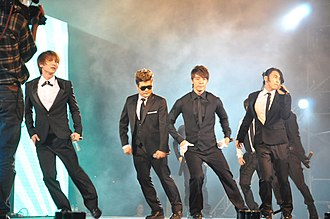 S.M. Entertainment - Super Junior at the MTV Exit Hanoi Concert in 2010.