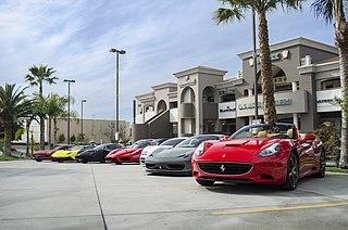 Supercar Luxury, high-performance sports car or grand tourer