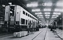 Unfinished railcar under construction