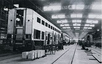 Superliner (railcar) - Superliners under construction at the Pullman plant in Hammond, Indiana