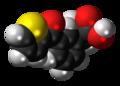 Suprofen molecule spacefill.png