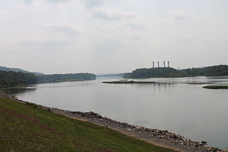 Susquehanna River - Looking downriver at Sunbury, Pennsylvania