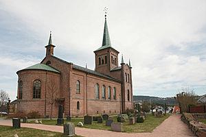 Svelvik - Image: Svelvik kirke TRS