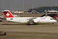 Swiss, HB-IXO, Avro RJ100 (15834156244).jpg
