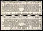 Switzerland Fribourg 1865 private acts revenue 5c - 27A Villars S Mont pair.jpg