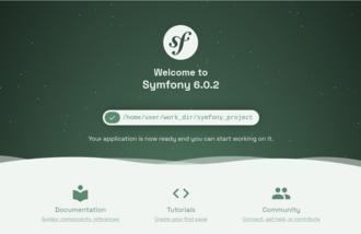 Symfony - Symfony Welcome Page