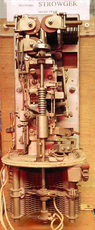 Strowger switch - Télégraphie, Systeme Strowger