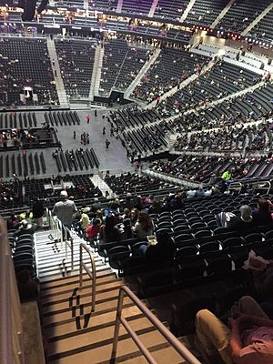 T-Mobile Arena - Interior of venue, shown 2016.