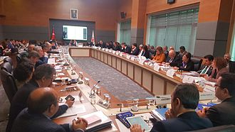 Turkish constitutional referendum, 2017 - The Parliamentary Constitutional Commission scrutinising the proposed changes